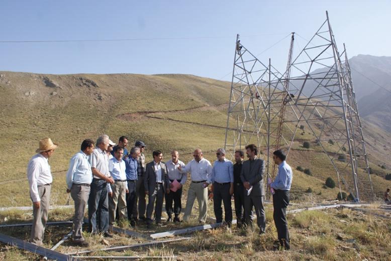 بهره برداری از پروژه خط ۴۰۰ کیلوولت تکمداره باندل سه سیمه ارتباطی نيروگاه سیاه بیشه - پست وردآورد ( پارک جنگلی)